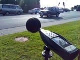 Medición de ruido originado por tráfico