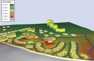 Simulación acústica de mapa de ruido