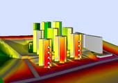 Simulación 3D de afección de ruido a edificios